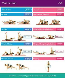 Bikini Body Guide 2.0 Week 16 Friday